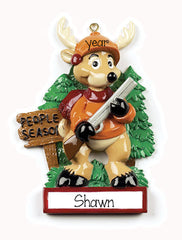 deer hunting/people season/personalized christmas ornaments