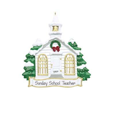 Church/Sunday School Teacher~Personalized Christmas Ornament