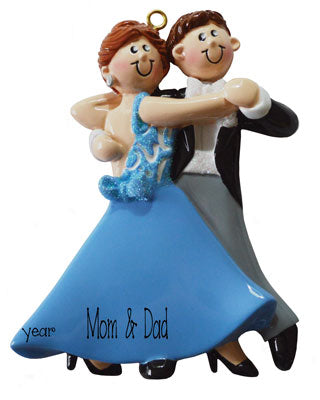 COUPLE ballroom dancing ornament FOR MOM AND DAD, MY PERSONALIZED ORNAMENTS