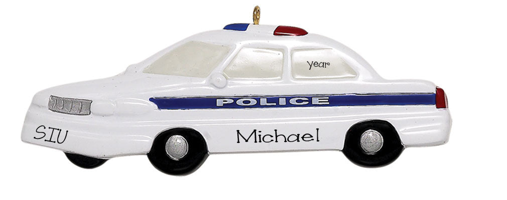 Police Car Personalized Ornament