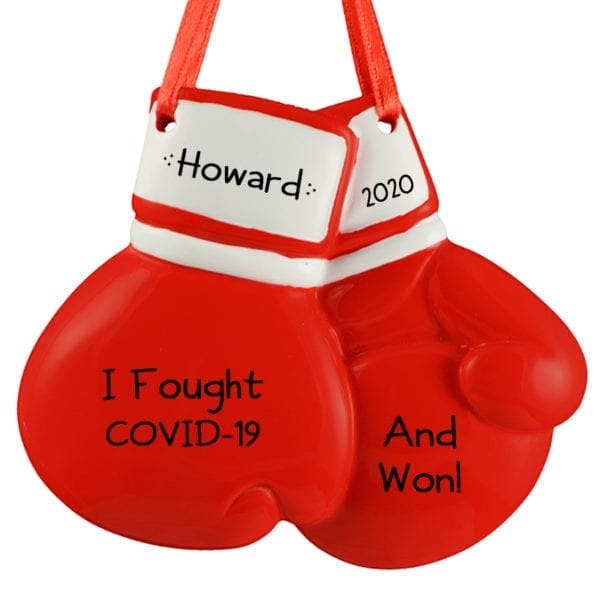 I won! Red Boxing Gloves - Personalized Ornament
