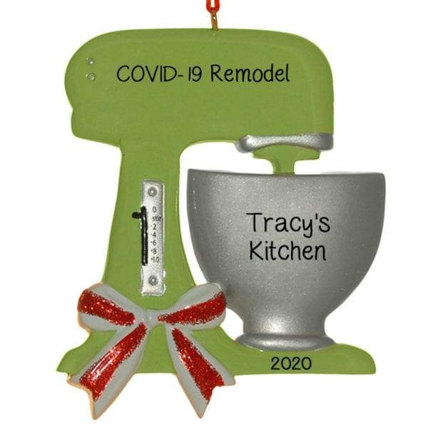 Covid-19 Kitchen Makeover~Personalized Christmas Ornament