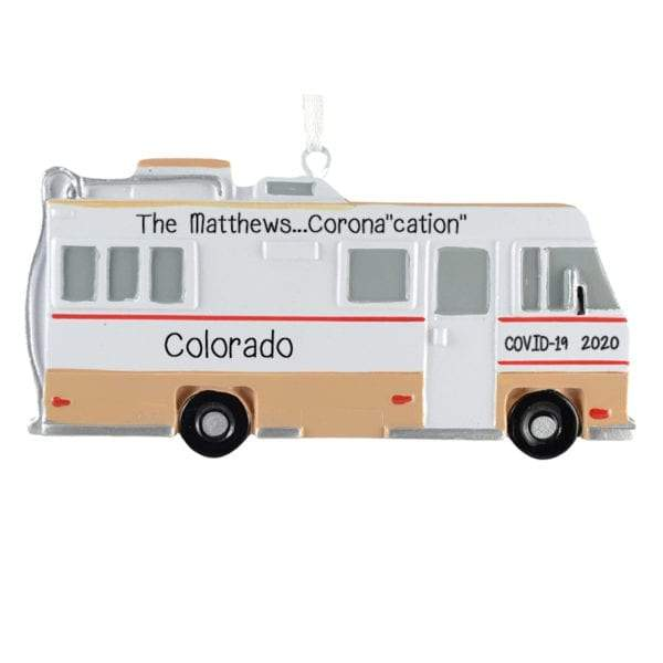 Corona-Cation-RV Camper~Personalized Ornament