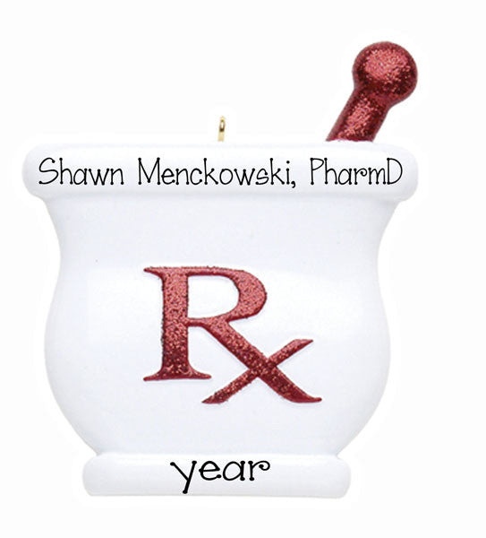 PHARMACIST ~ Personalized Christmas Ornament