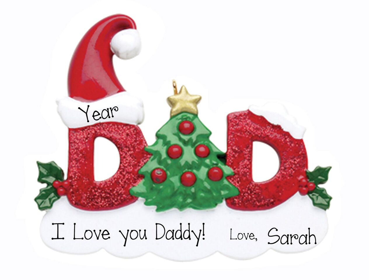 Dad My Personalized Ornaments