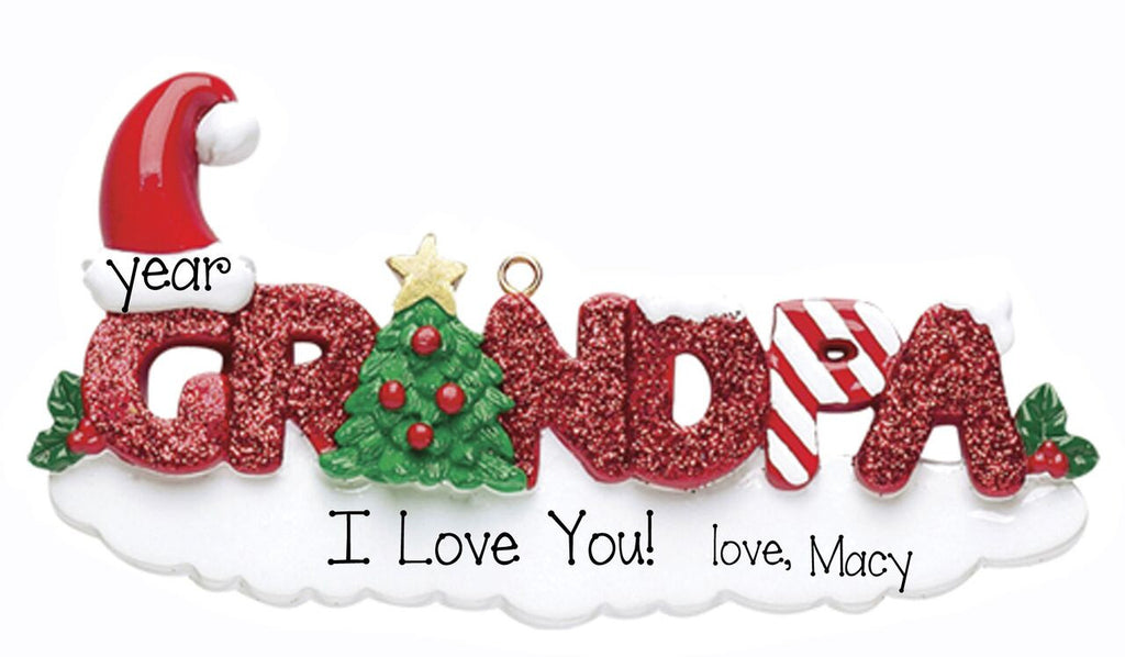 Grandpa~Personalized Christmas Ornament