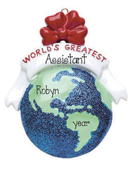 WORLD'S GREATEST GLOBE ORNAMENT, MY PERSONALIZED ORNAMENTS