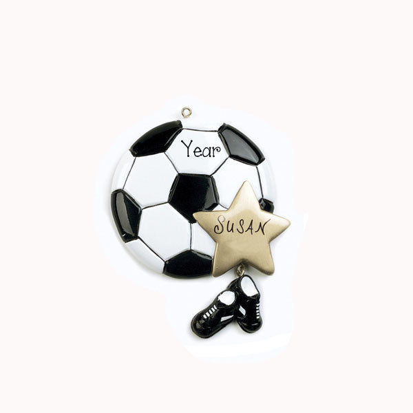 SOCCER BALL~Personalized Christmas Ornament