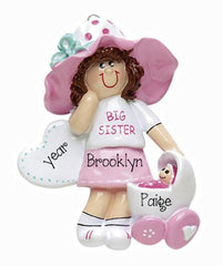 Big sister with stroller. my personalized ornaments