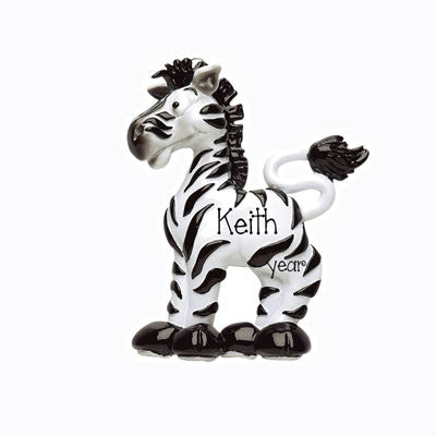 personalized ZEBRA ornament, my personalized ornaments