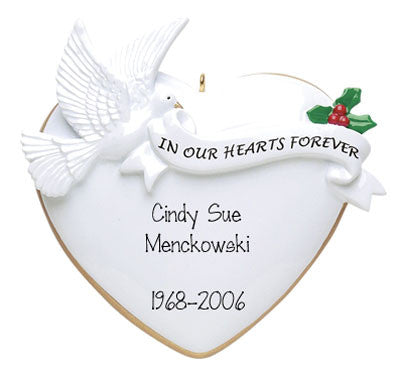 In Memory of - Personalized Ornaments