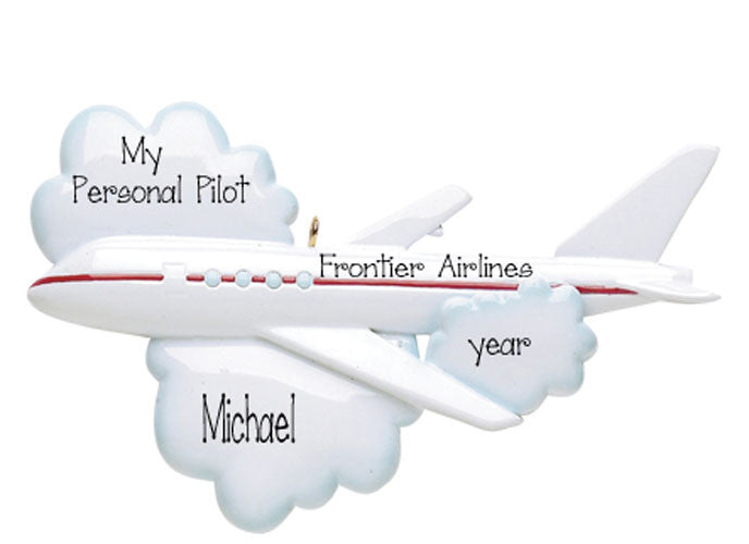 JET AIRLINER ORNAMENT / PILOT / MY PERSONALIZED ORNAMENTS
