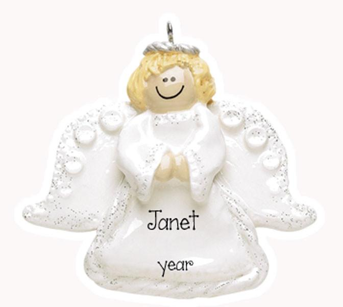 ANGEL w/ WINGS Personalized ~Personalized Christmas Ornament
