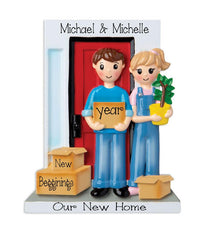 Couple moving in to their New Home~Personalized Christmas Ornament