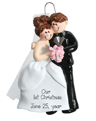 JUST MARRIED COUPLE 1st CHRISTMAS Ornament