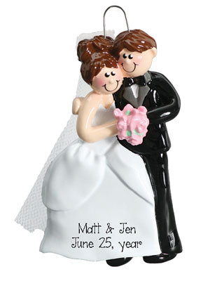 JUST MARRIED COUPLE WEDDING Ornament