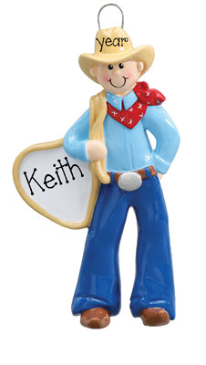 COWBOY Personalized Ornament