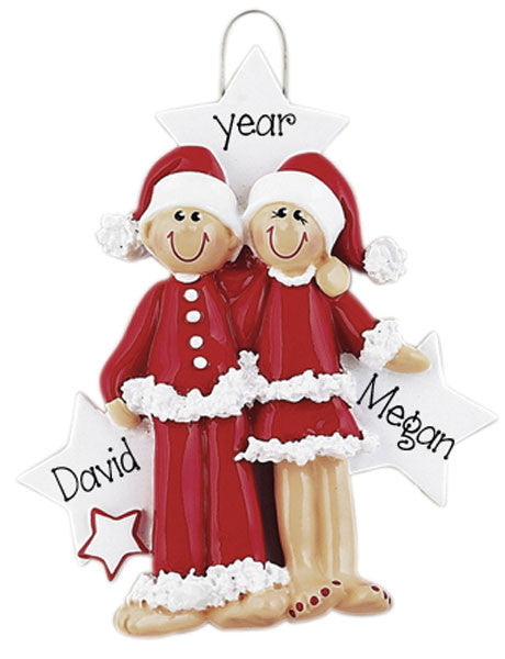 MR. & MRS. CLAUS - Personalized Ornament