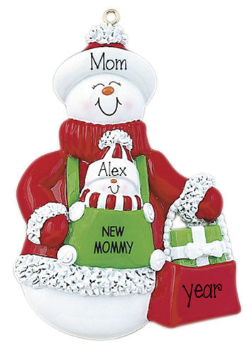 MOMMY AND NEW BABY ORNAMENT / MY PERSONALIZED ORNAMENTS