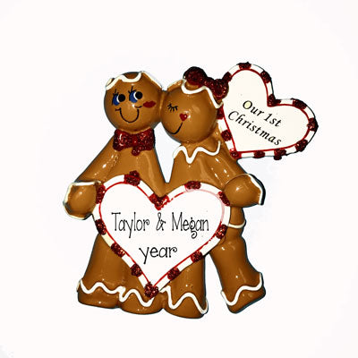 GINGERBREAD COUPLE'S 1ST CHRISTMAS Ornament