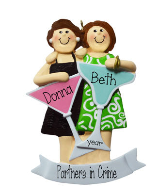 TWO FRIENDS with spirits ornament / my personalized ornament