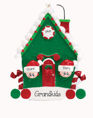 TWO GRANDKIDS HANGING OUT OF THE HOUSE WINDOW/ my personalized ornament