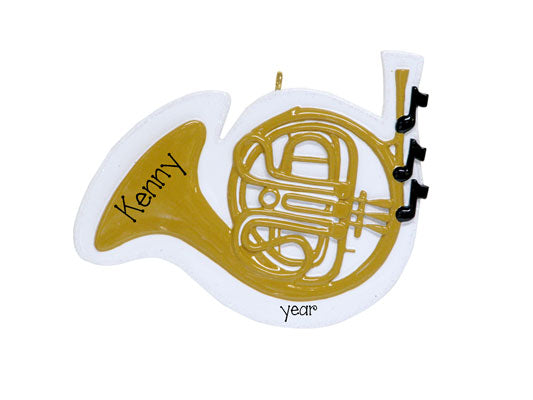 FRENCH HORN Personalized Ornament