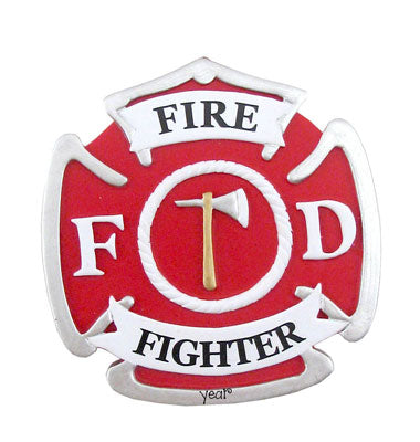 FIREFIGHTER BADGE Ornament