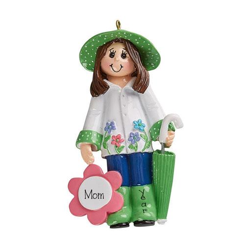 Mom Loves to GARDEN~GARDENING - Personalized Christmas Ornament