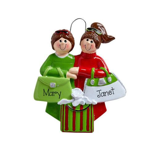 Friends Shopping Trip~Personalized Christmas Ornament