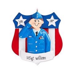 Airforce Soldier in uniform~Personalized Christmas Ornament