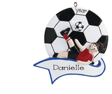 Female Soccer Player~Personalized Christmas Ornament