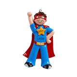 Masked SUPER HERO - Personalize Christmas Ornament