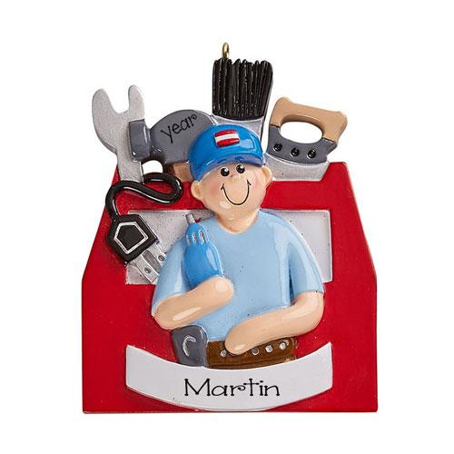 HANDYMAN~Personalized Christmas Ornament