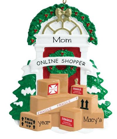 Mom's Therapy~ONLINE SHOPPER~Personalized Christmas Ornament