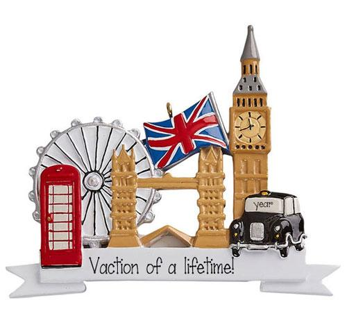 Vacation in London - Personalized Christmas Ornament