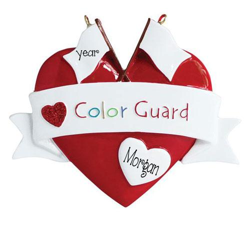 COLOR GUARD~Personalized Christmas Ornament