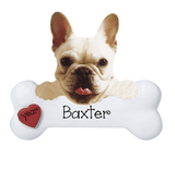 French Bulldog with a bone ~ Personalized Christmas Ornament