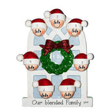 Family of 7-around an Arched window~Personalized Christmas Ornament - My Personalized Ornaments