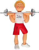 Male WEIGHT LIFTER~Personalized Christmas Ornament - My Personalized Ornaments