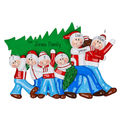 Christmas Tree Family of 6~Personalized Tabletop Decor`