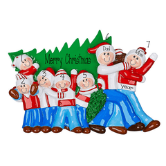 Christmas Tree Family of 7~Personalized Tabletop Decor`