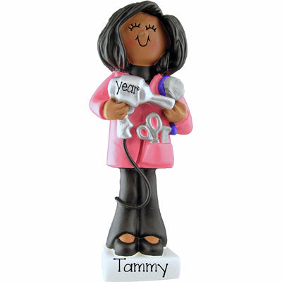 Ethnic HAIR STYLIST ~Personalized Christmas Ornament