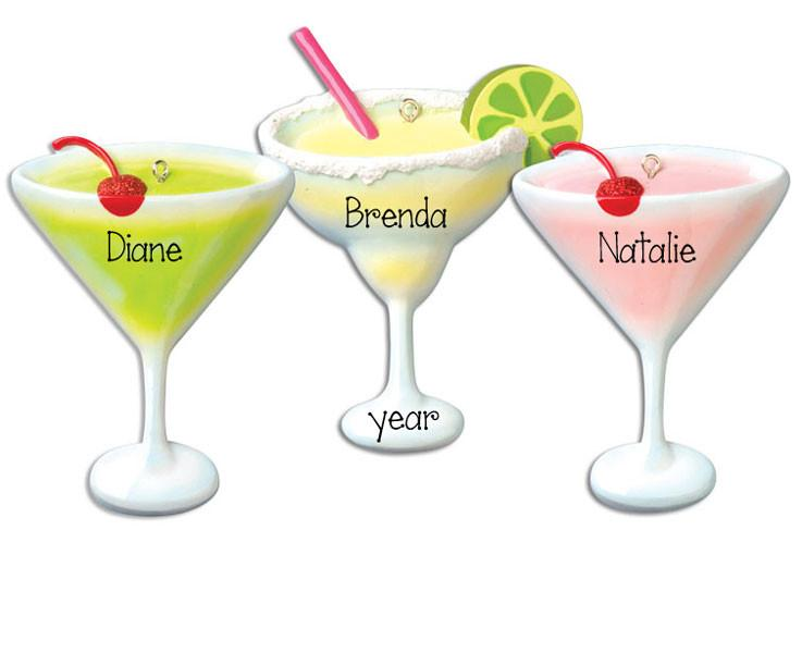 APPLETINI, MARGARITA OR COSMO- Personalized ornament
