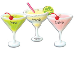 MARGARITA, APPLETINI, COSMO, ADULT DRINKS, PERSONALIZED ORNAMENTS