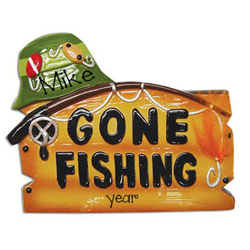 Gone Fishing Personalized Ornament