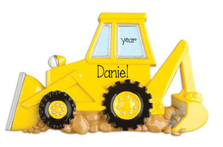 BACKHOE - Personalized Ornament