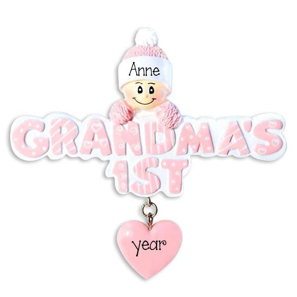 GRANDMA'S 1ST CHRISTMAS for GIRL - Ornament