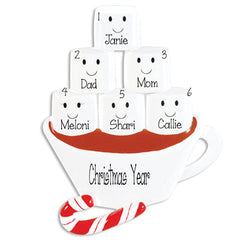 Family of 6 Hot Chocolate with Marshmallows~Table Top Decor`