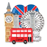LONDON ENGLAND / MY PERSONALIZED ORNAMENT